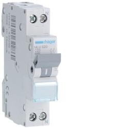 automatico magnetotermico  ml 1p+n 20a c 6ka