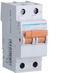 automatico magneto mn 1p+n 20a  c 6ka