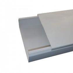 100X60 CANAL PVC CON CUBIERTA 2MT