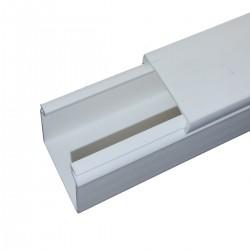 10X20 CANAL PVC ADHESIVA CUBIERTA 1MT
