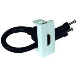 TOMA HDMI C/CONECT - 1 MOD BLANCO