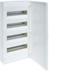 Caja de superficie golf serie vf 4 filas 48m puerta opaca blanca y...