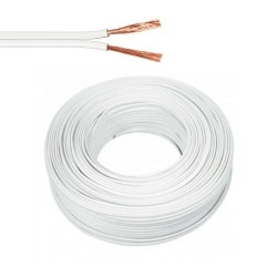 Cable paralelo blanco c/estria 2x1,00