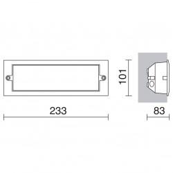 EMPOTRABLE PARED XALOC IP44 40W E27 NEGR