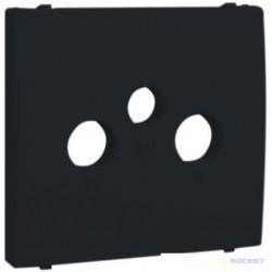 Tapa para toma r-tv-sat negro 50775 tpt