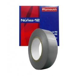 CINTA AISLANTE PVC NUÑEZ 12 20X19MM GRIS