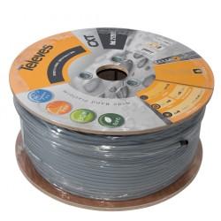 Cable coaxial cxt cu/al pvc clase a bl.100m