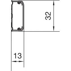 Minicanal ateha pvc de 12x30 mm ral9010 longitud 2,10 m.