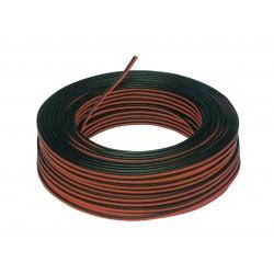 Cable paralelo rojo-negro 2x1,00
