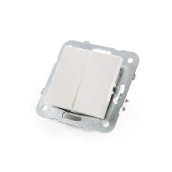 INTERRUPTOR DOBLE 10A 250V TECLA BLANCA INCLUIDA